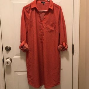 The Limited coral long sleeve or 3/4 sleeve dress